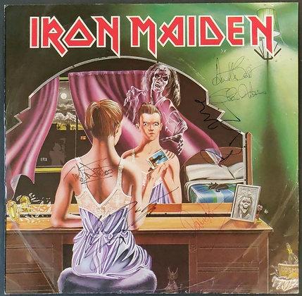 """Iron Maiden Signed 'Twilight Zone/Wrathchild' 12"""" Single Vinyl - Bruce Dickinson"""
