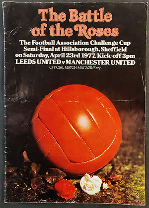 Manchester United Signed Programme - 1977 FA Cup Semi-Final vs Leeds United