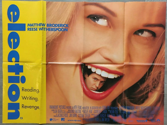 Election (1999) UK Quad Poster - Matthew Broderick, Reece Witherspoon