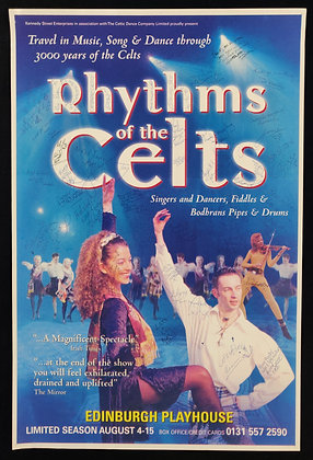 Rhythms of the Celts Signed Poster
