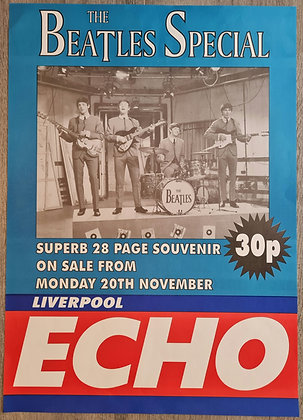 The Beatles Liverpool Echo Poster - 'The Beatles Special' - 1995