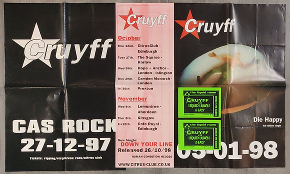 Cruyff Promo Posters (X3) & Flyers from Edinburgh (X2)