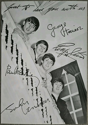 The Beatles Contemporary Poster Print - Fanclub Photo, 1963