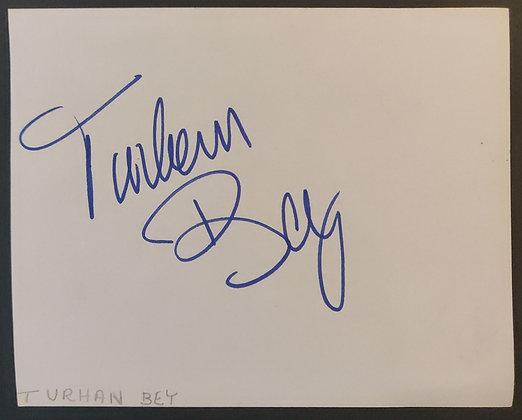 Turhan Bey Signed Autograph Page