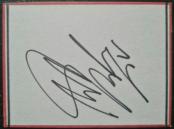 Antonio Valencia Signed Index Card - Man Utd, Ecuador National Footballer