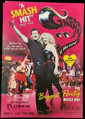 Grease Is The Word Mini-Poster Signed Edinburgh Playhouse 2004