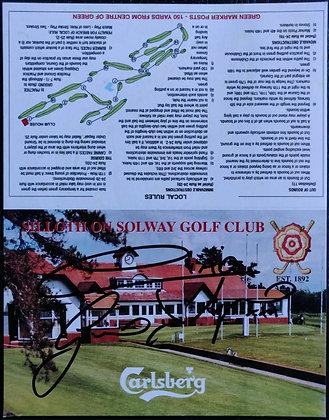 Gino D'Acampo Signed Golf Scorecard