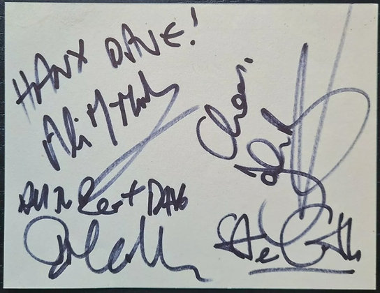 Stiff Little Fingers Autographs from 2011 - Ali, Jake, Ian & Steve