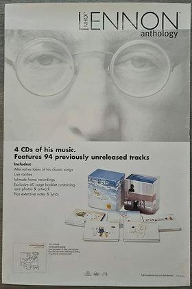 John Lennon 'Anthology/Wonsaponatime' Double-Sided Promo Poster from 1998
