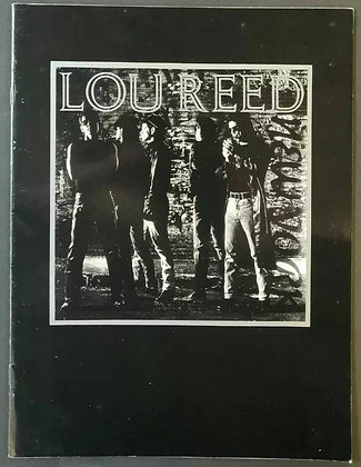 Lou Reed Programme from the 1989 'New York' Tour