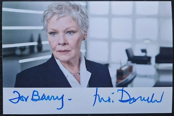 Judi Dench Signed Photo - M (James Bond), Quantum of Solace, Shakespeare In Love