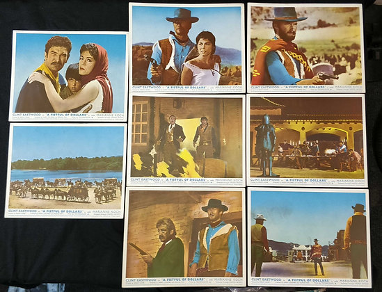 A Fistful Of Dollars Front of House/Lobby Cards (x8)