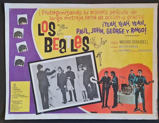 The Beatles 'A Hard Day's Night' Mexican Cinema Lobby Card
