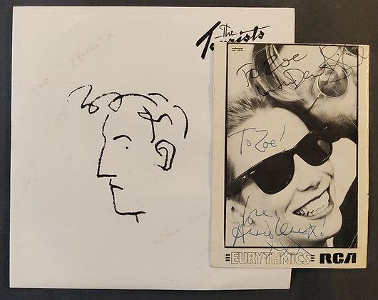 Eurythmics & The Tourists Signed Vinyl and Promo Postcard