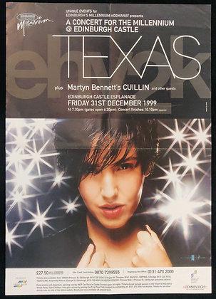 Texas Poster from Edinburgh Castle 1999 - A Concert For The Millennium