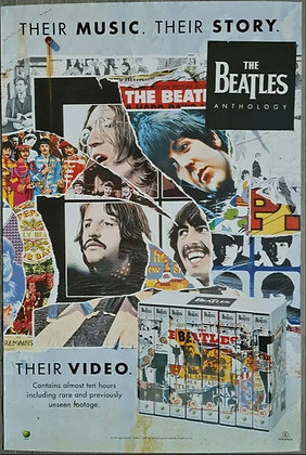 The Beatles 'Anthology' Promo Poster for Video Boxset from 1996