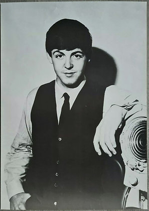 Paul McCartney Contemporary Poster Print - Beatles Monthly (1963)