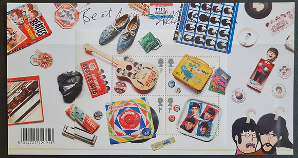 Allan Williams Signed The Beatles Stamp Set from 2007