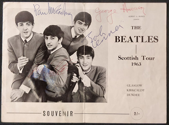 The Beatles Signed Scottish Tour Programme