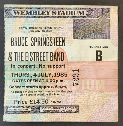 Bruce Springsteen 1985 London