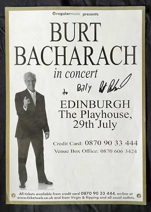 Burt Bacharach Signed Poster - Edinburgh Playhouse