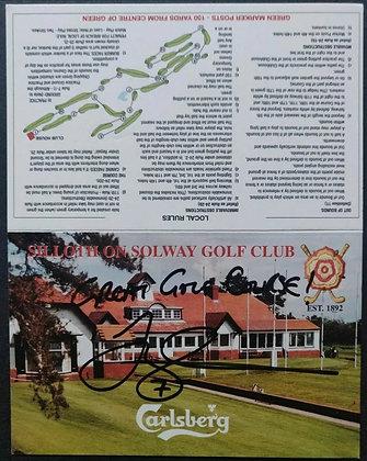 Joey Barton Signed Golf Scorecard