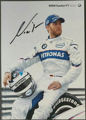 Nick Heidfeld Signed BMW Sauber F1 Team Drivers Promotional Card
