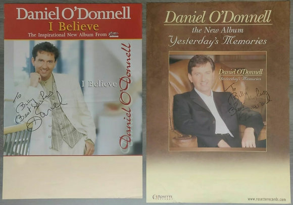 Daniel O'Donnell Signed Promo Posters (X2) from Edinburgh Playhouse, 1990s/2000s