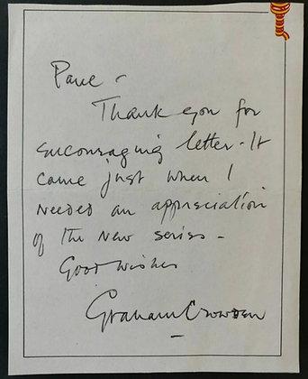Graham Crowden Handwritten Note