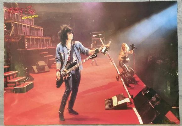 Mötley Crüe 'Raw Tracks' Japanese Promo Poster - 1988