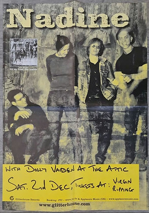 Nadine (US Alt-Country Band) Promo Poster from The Attic, Edinburgh, 2000