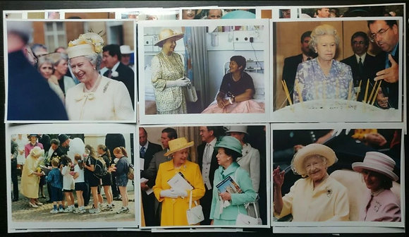 British Royal Family Press Photos (x30) - Queen Elizabeth II + Queen Mother