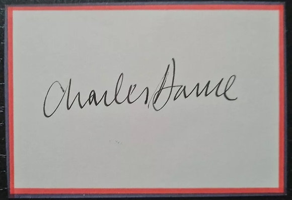 Charles Dance Signed Card - Game Of Thrones, Jewel In The Crown