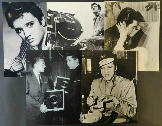 Elvis Presley B/W Photo/Print Selection (X5) - 2