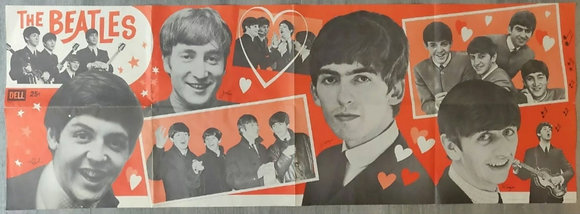 The Beatles Large Fold-Out US Banner Poster from 1964 - Dell Publishing Co, Inc.