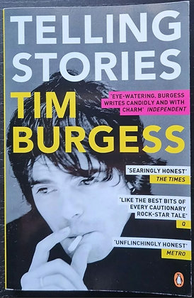 Tim Burgess Signed 'Telling Stories' Paperback Book - The Charlatans