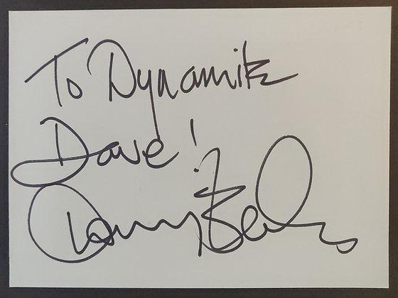 Danny Baker Signed Autograph Page