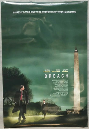 Breach (2007) Original US One Sheet Poster - Chris Cooper, Ryan Phillipe