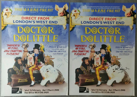 Doctor Dolittle Signed Posters (x2) from Edinburgh, 2000 - Phillip Schofield