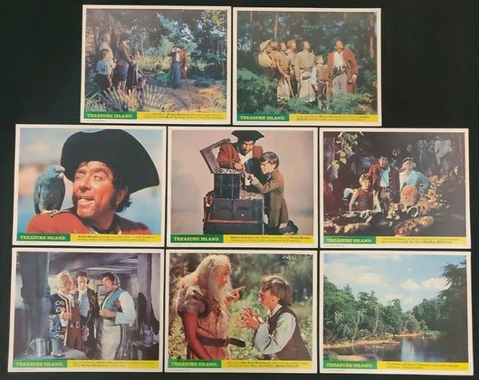 Treasure Island UK Lobby Cards Set of 8 - Walt Disney - (1950) - FOH Cards