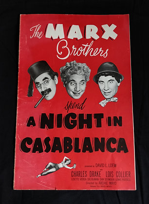 A Night In Casablanca (1946) Pressbook. Not Complete