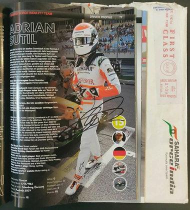 Adrian Sutil Signed F1 Nürburgring 2013 Programme + Sahara Force India Envelope
