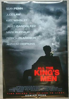 All The King's Men (2006) Original US One Sheet Poster - Sean Penn, Jude Law