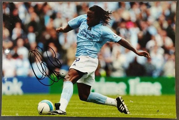 Émile Mpenza Signed Photo with COA - Man City, Belgian International