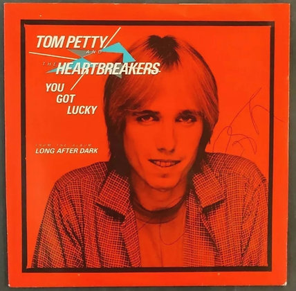 "Tom Petty Signed 'You Got Lucky' 7"" Single - Tom Petty And The Heartbreakers"