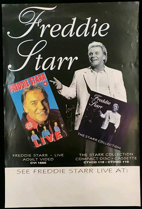 Freddie Starr Signed Poster Edinburgh Playhouse - Early 90s
