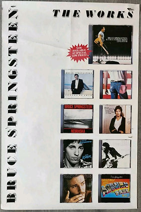 Bruce Springsteen 'The Works' Album Discography Promo Poster