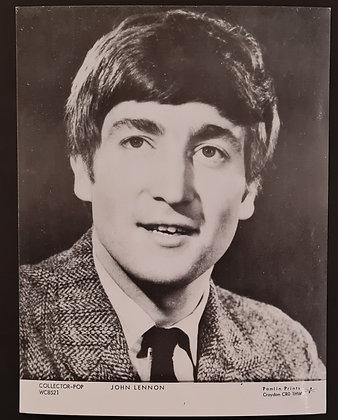 John Lennon Promo Postcard by Pamlin Prints