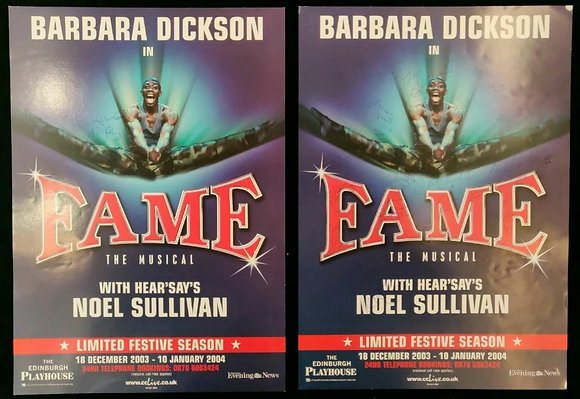 Fame Musical Signed Mini-Posters Edinburgh Playhouse 2003/04 (x2)