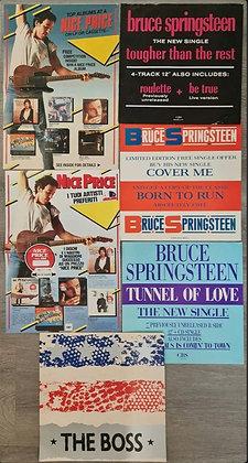 Bruce Springsteen Promo Flats/Record Store Displays (x4) + Brochures (x2) - CBS